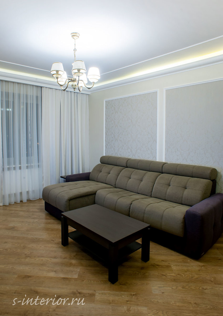 Студия интерьера 'SENSE' Eclectic style living room Grey