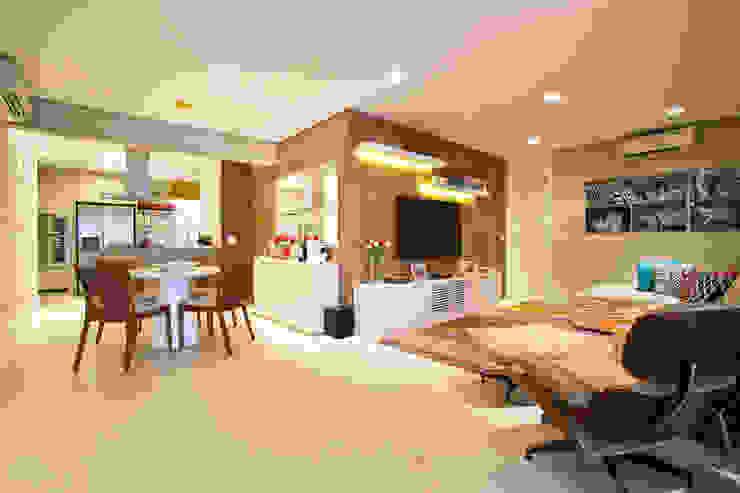 Living / Home Theater / Jantar Salas de estar modernas por Marcelo Bicudo Arquitetura Moderno