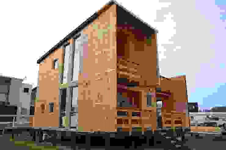 Cabaña Loft San Antonio Casas estilo moderno: ideas, arquitectura e imágenes de EstradaMassera Arquitectura Moderno Madera Acabado en madera