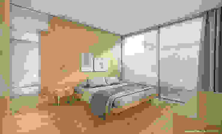 Bela Houses Quartos minimalistas por paulosantacruz.arquitetos Minimalista
