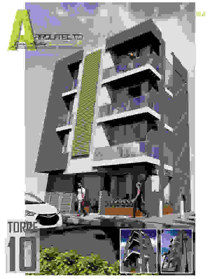 EDIFICIO TORRE 10 Casas modernas de ARQUITECTO JUAN ANDRES GUTIERREZ PEREZ Moderno Concreto