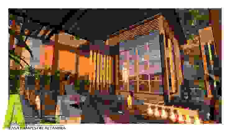 SALA EXTERIOR Balcones y terrazas de estilo rústico de ARQUITECTO JUAN ANDRES GUTIERREZ PEREZ Rústico