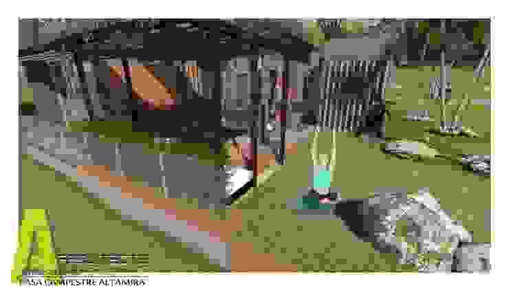 TERRAZA Y MIRADOR Jardines de estilo rústico de ARQUITECTO JUAN ANDRES GUTIERREZ PEREZ Rústico