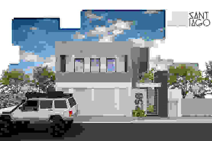 J-Gles: Casas de estilo  por SANT1AGO arquitectura y diseño, Minimalista