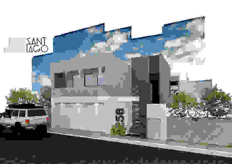 J-Gles Casas minimalistas de SANT1AGO arquitectura y diseño Minimalista