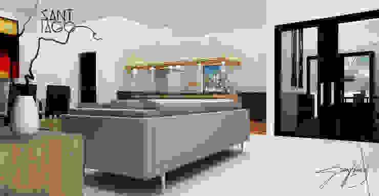 J-Gles Salones minimalistas de SANT1AGO arquitectura y diseño Minimalista