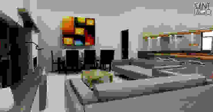 J-Gles Salas multimedia minimalistas de SANT1AGO arquitectura y diseño Minimalista