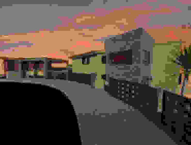 Render fachada Casas minimalistas de CESAR MONCADA S Minimalista