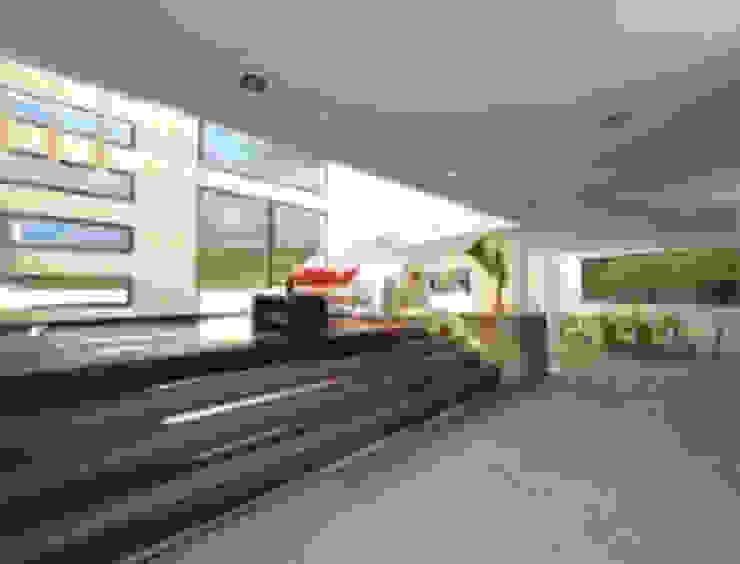 Rancho San Juan Zona Esmeralda Pasillos, vestíbulos y escaleras minimalistas de CESAR MONCADA S Minimalista