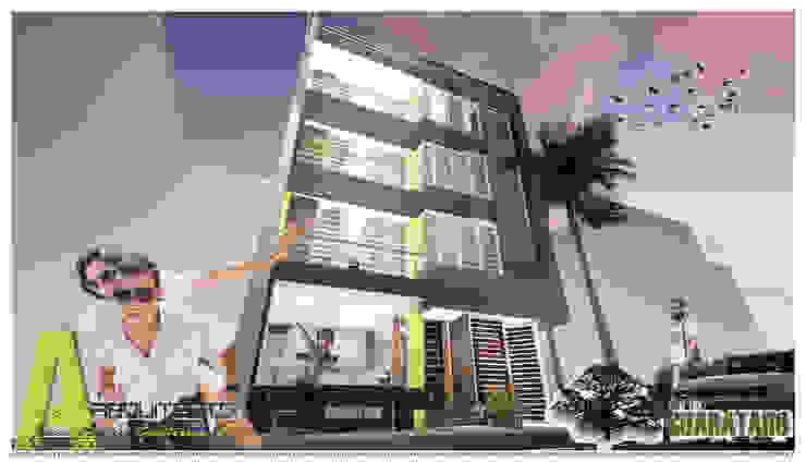 PERSPECTIVA NORTE Casas modernas de ARQUITECTO JUAN ANDRES GUTIERREZ PEREZ Moderno