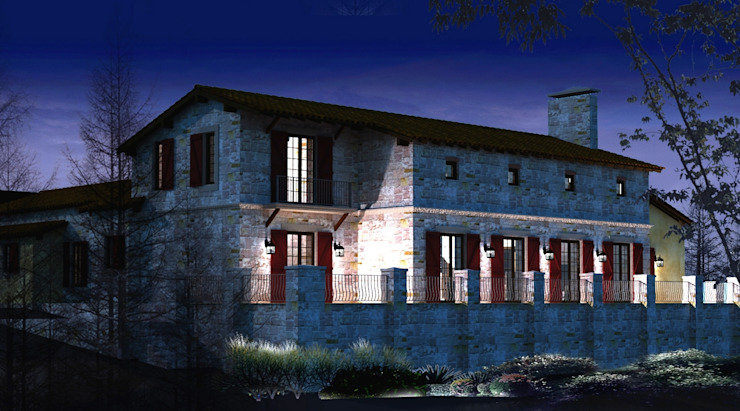 Casas campestres por Plano Mimarlık ve Teknoloji Campestre Pedra