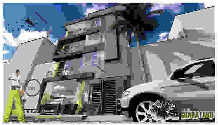 PERSPECTIVA SUR Casas modernas de ARQUITECTO JUAN ANDRES GUTIERREZ PEREZ Moderno