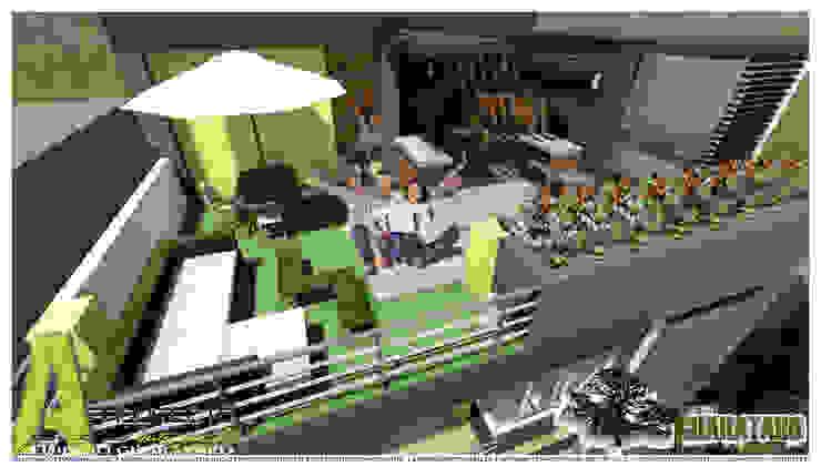 TERRAZA BBQ Balcones y terrazas de estilo moderno de ARQUITECTO JUAN ANDRES GUTIERREZ PEREZ Moderno
