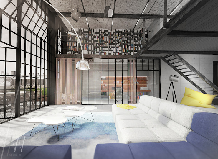 인더스트리얼 거실 by AAW studio 인더스트리얼