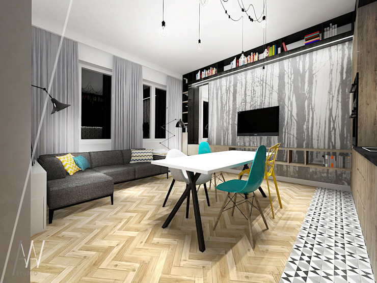Modern living room by AAW studio Modern