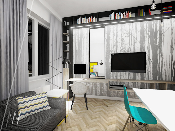 Modern study/office by AAW studio Modern