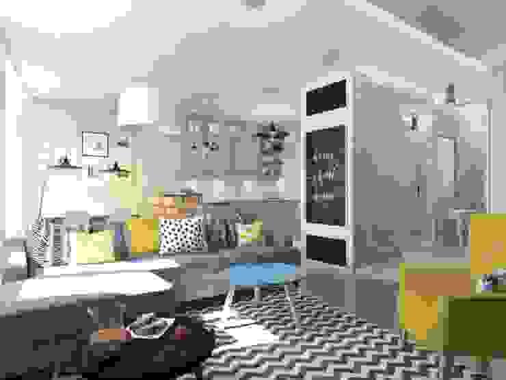 에클레틱 거실 by Jankowska Design 에클레틱 (Eclectic)