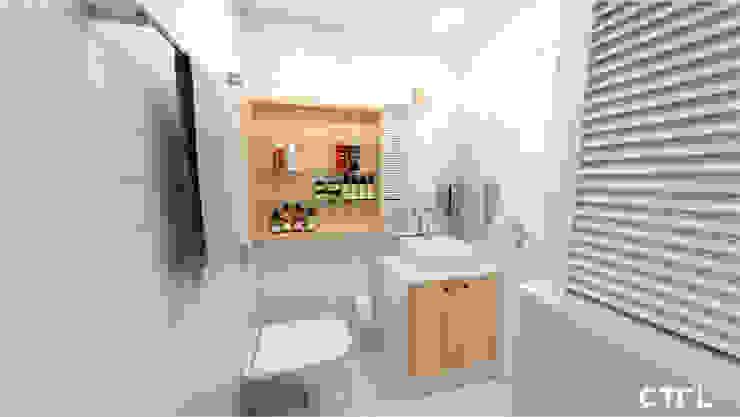 Lavatório e Armários Banheiros modernos por CTRL | arquitetura e design Moderno