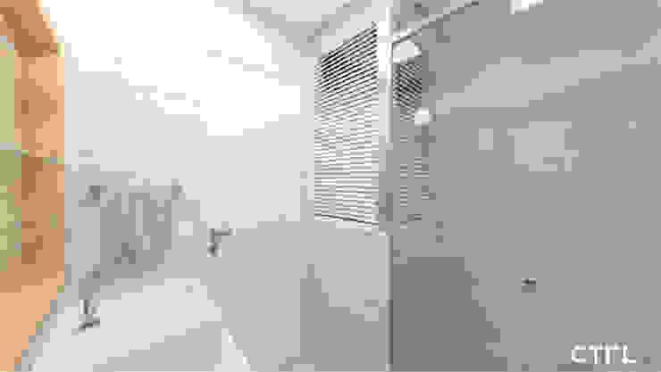 Área de Banho CTRL | arquitetura e design Banheiros modernos