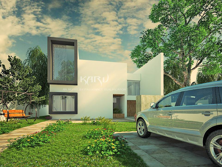 The Box House Modern houses by KARU AN ARTIST Modern