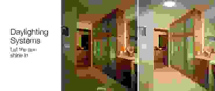 Antes e depois por Solatube Portugal Moderno