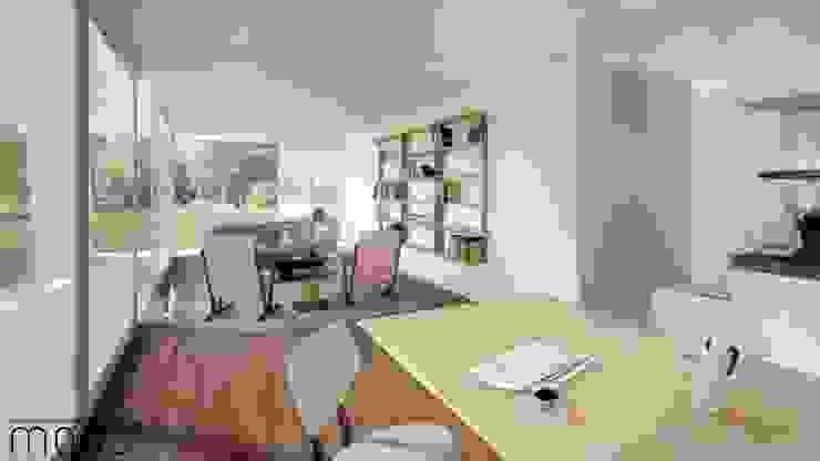 Modo Arquitectos Associados Salones modernos Madera Acabado en madera