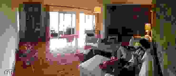 Rustic style living room by Modo Arquitectos Associados Rustic Stone