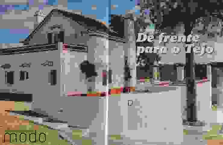 Reabilitação de moradia em Mouriscas Casas rústicas por Modo Arquitectos Associados Rústico Cerâmica