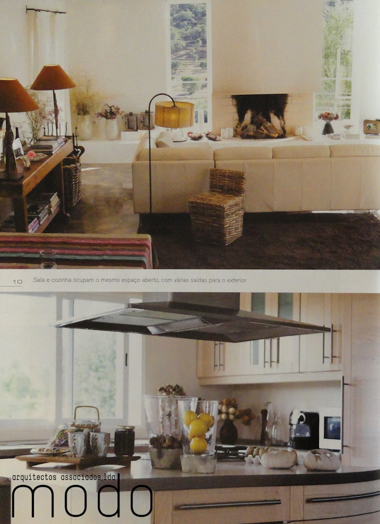 Reabilitação de moradia em Mouriscas Cozinhas rústicas por Modo Arquitectos Associados Rústico Cerâmica