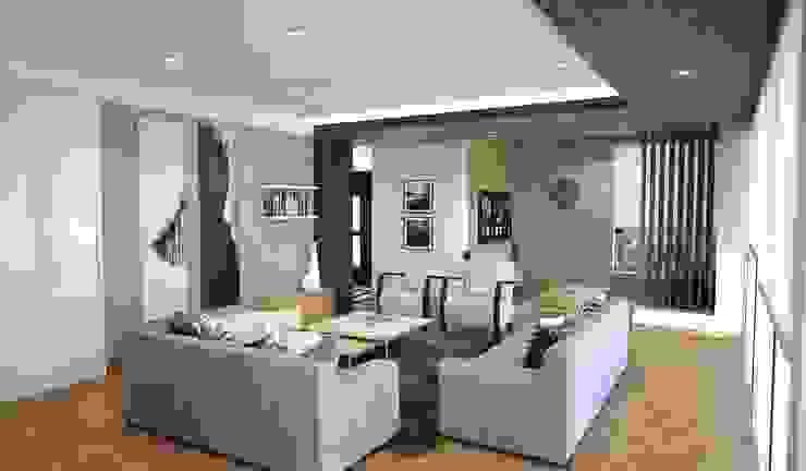 Scandinavian style living room by Kuro Design Studio Scandinavian