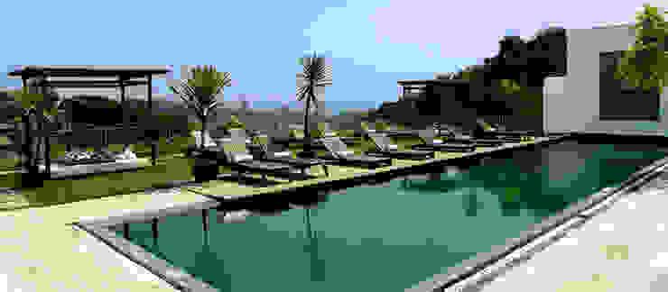 HOTEL SANTA TERESA | Piscina Hotéis modernos por Tato Bittencourt Arquitetos Associados Moderno