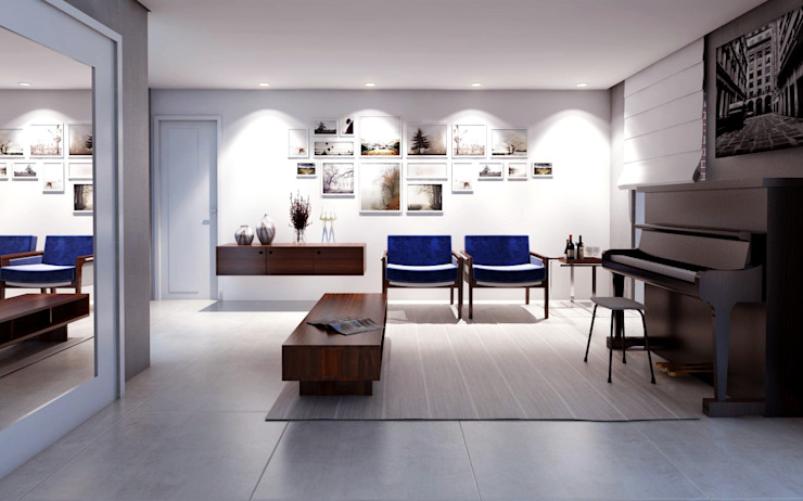 Salones modernos de Lozí - Projeto e Obra Moderno
