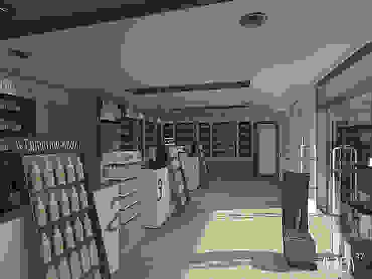 Remodelação Farmácia Espaços comerciais modernos por area27 Moderno
