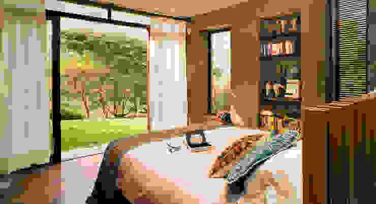 Casa Chontay: Dormitorios de estilo  por Marina Vella Arquitectura, Moderno