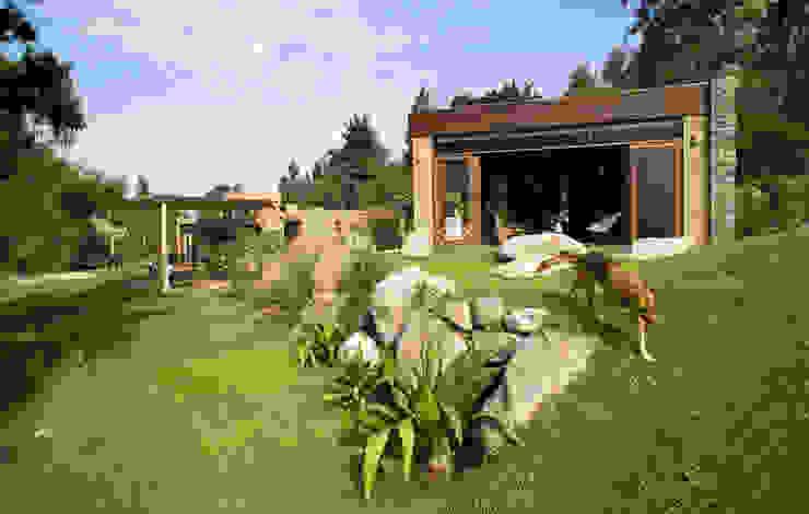 Casa Chontay Nowoczesne domy od Marina Vella Arquitectura Nowoczesny