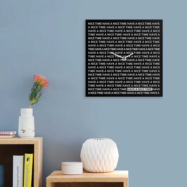 Nice Time Clock Oleh dESIGNoBJECT.it Minimalis Metal