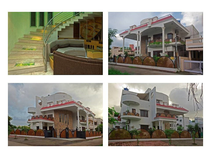 bungalows project views Modern houses by Gupta's associated architects Modern