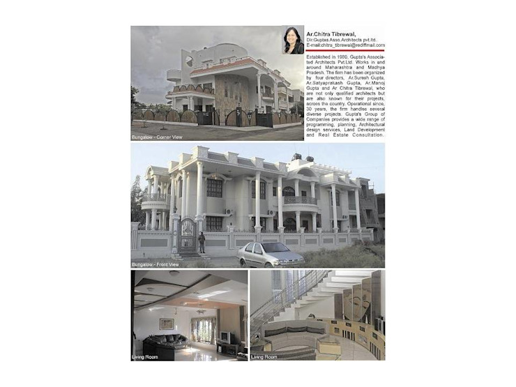 bungalow like palace Classic style houses by Gupta's associated architects Classic Reinforced concrete