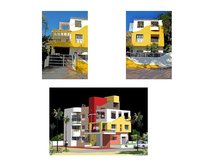 shrimal bungalow Modern houses by Gupta's associated architects Modern Reinforced concrete
