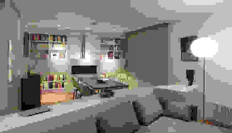 vista del comedor desde el salón Comedores de estilo minimalista de Daifuku Designs Minimalista