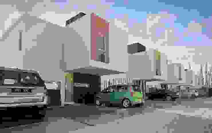 Desarrollo en Lino Limay, Neuquen Capital, Patagonia Casas minimalistas de Chazarreta-Tohus-Almendra Minimalista