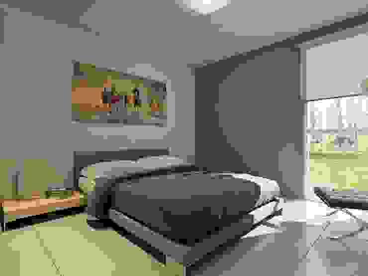 Desarrollo en Lino Limay, Neuquen Capital, Patagonia Dormitorios minimalistas de Chazarreta-Tohus-Almendra Minimalista