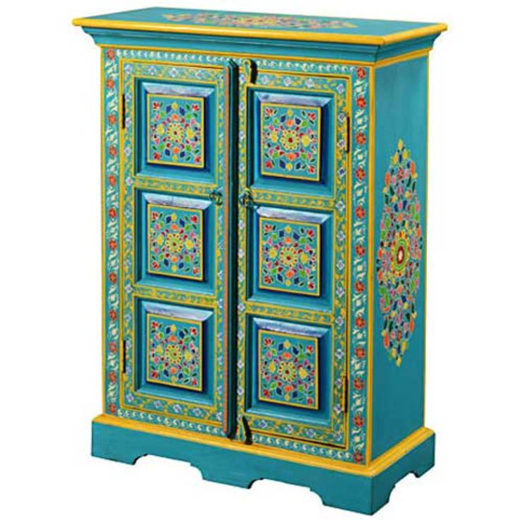 Indian Hand Painted Furniture Homify, Hand Painted Cabinet India