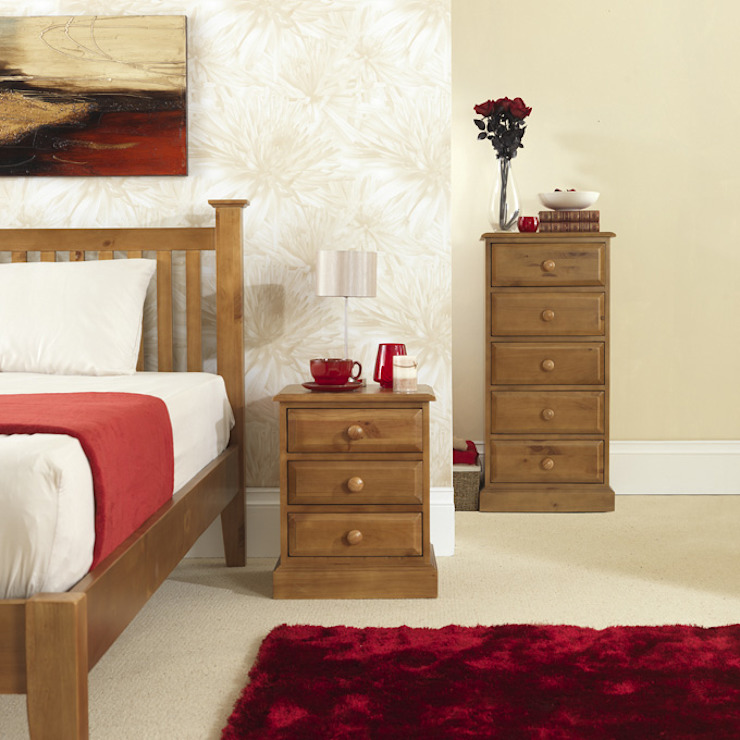 Hendon Pine Bedroom Furniture por Asia Dragon Furniture from London Clássico