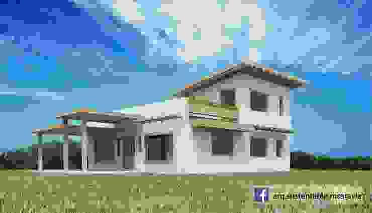 Vivienda de ADOBE en Valle del Golf - Villa Allende. Cordoba Casas rústicas de Arq Magdalena Saravia - Estudio de Arquitectura Sustentable - Rústico