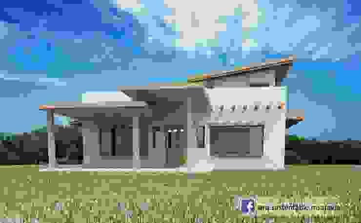 Vivienda de ADOBE en Valle del Golf – Villa Allende. Cordoba Casas rústicas de Arq Magdalena Saravia - Estudio de Arquitectura Sustentable - Rústico