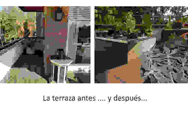 Terraza antes y después Balcones y terrazas de estilo minimalista de Daifuku Designs Minimalista