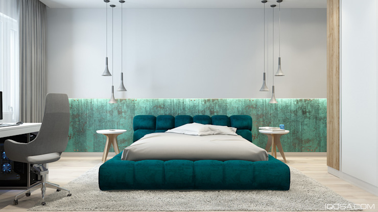 Camera da letto in stile industriale di homify Industrial