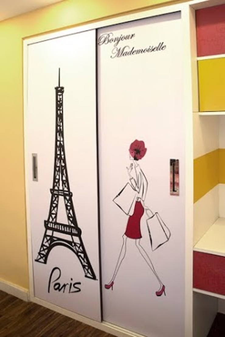 4 BHK in Bengaluru Modern dressing room by Cee Bee Design Studio Modern