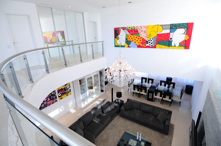Marcelo John Arquitetura e Interiores Minimalistischer Balkon, Veranda & Terrasse